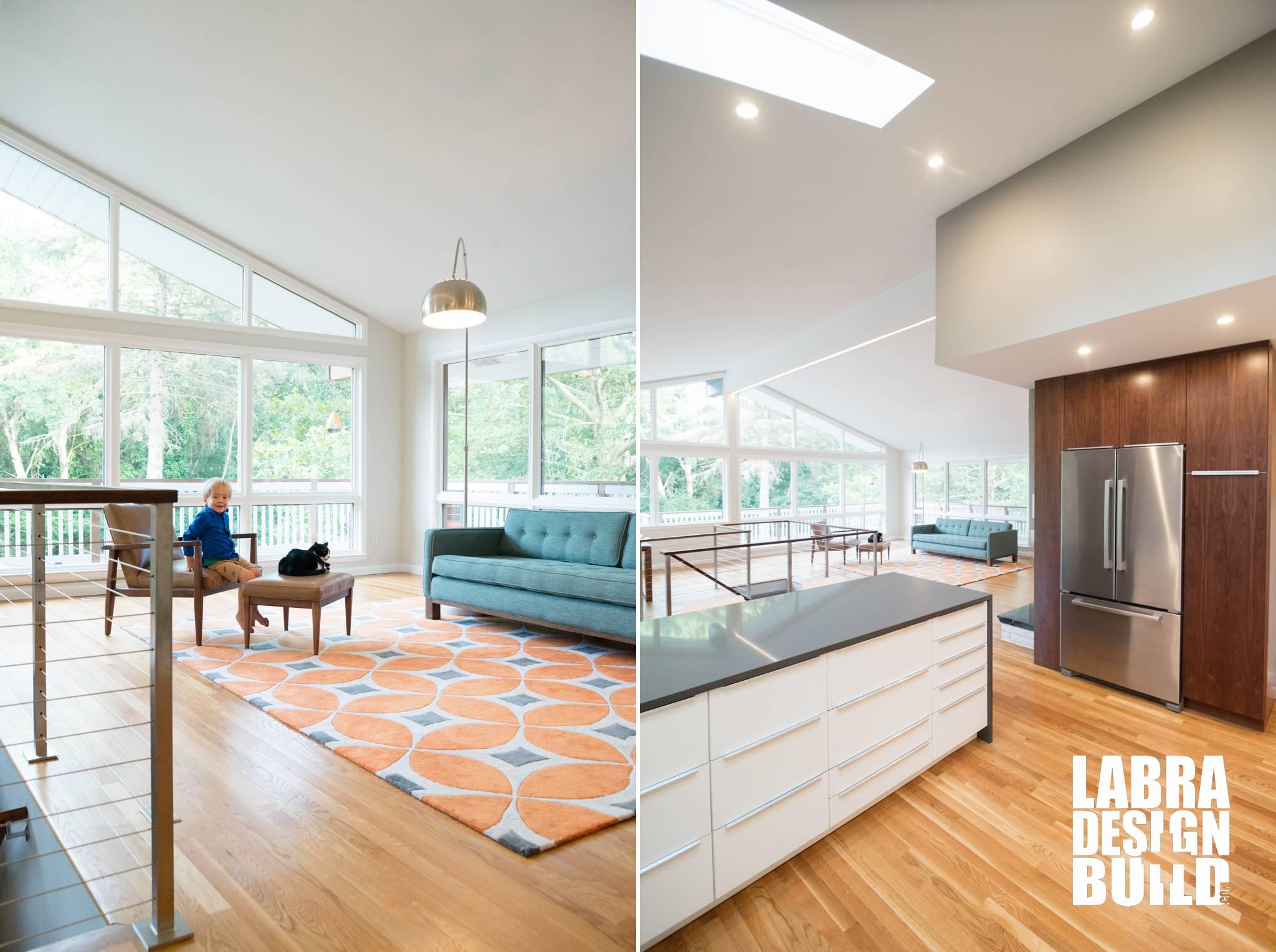 Mid century modern kitchen backsplash tile. Labra Design+Build | mid century modern kitchen remodel ...