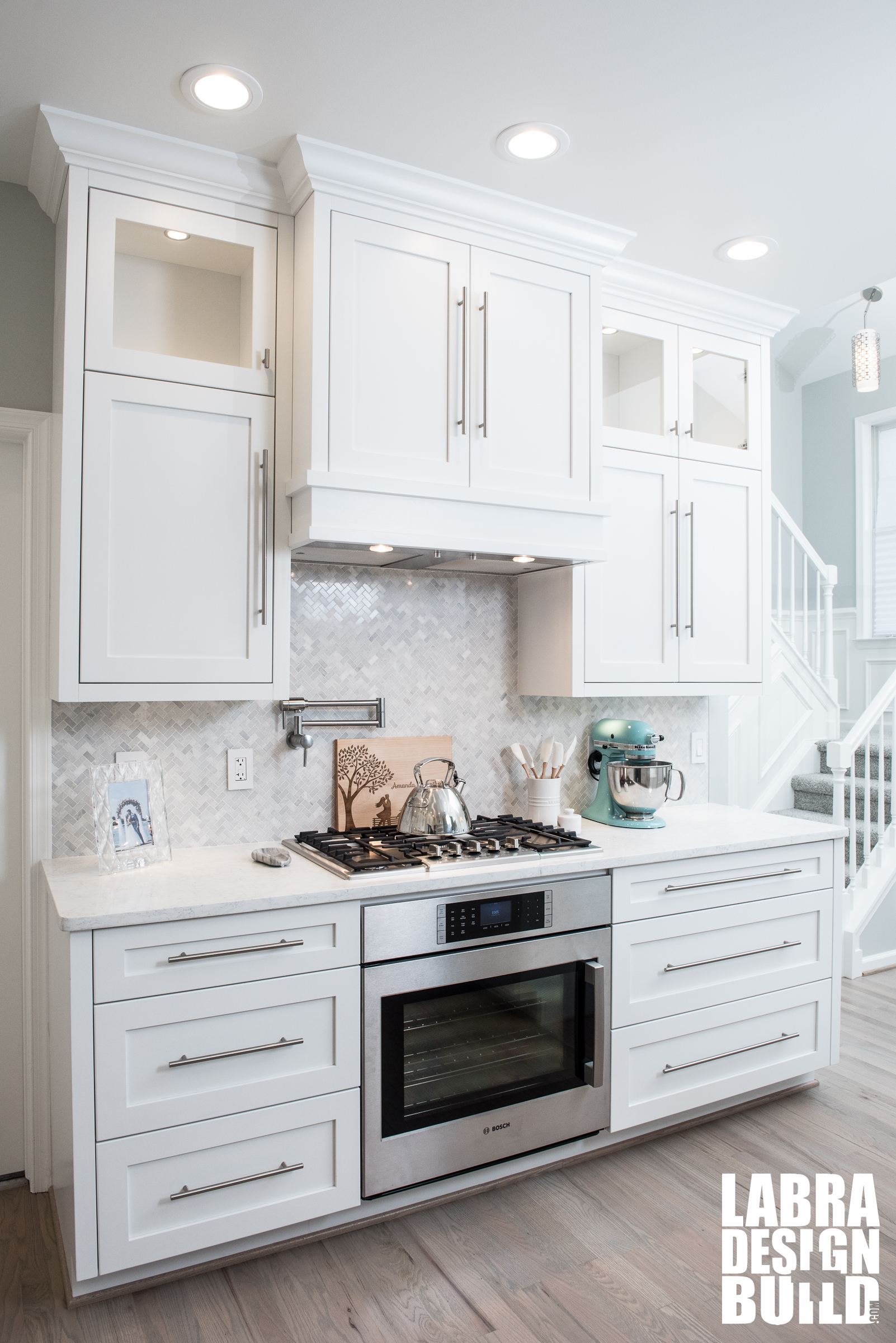 Dreamy White Custom Kitchen Labra DesignBuild