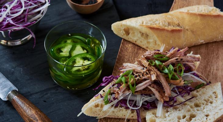 Papaya Slaw And Pork Sandwich - Lunch Recipes