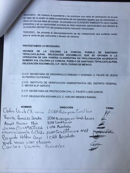 Invea protege gasera ilegal en Xochimilco-documento2