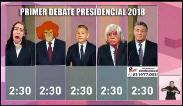 memes 1er debate presidencial 2018-