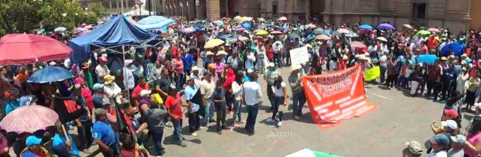 MPL, Comerciantes y Colonos del Saucito Protestan contra Gallardo