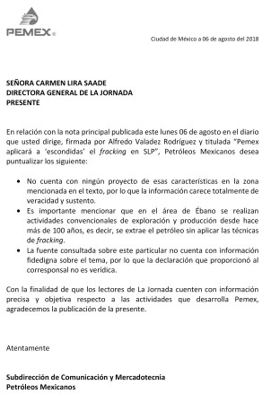 Carta aclaratoria Nota La Jornada 060818 OK