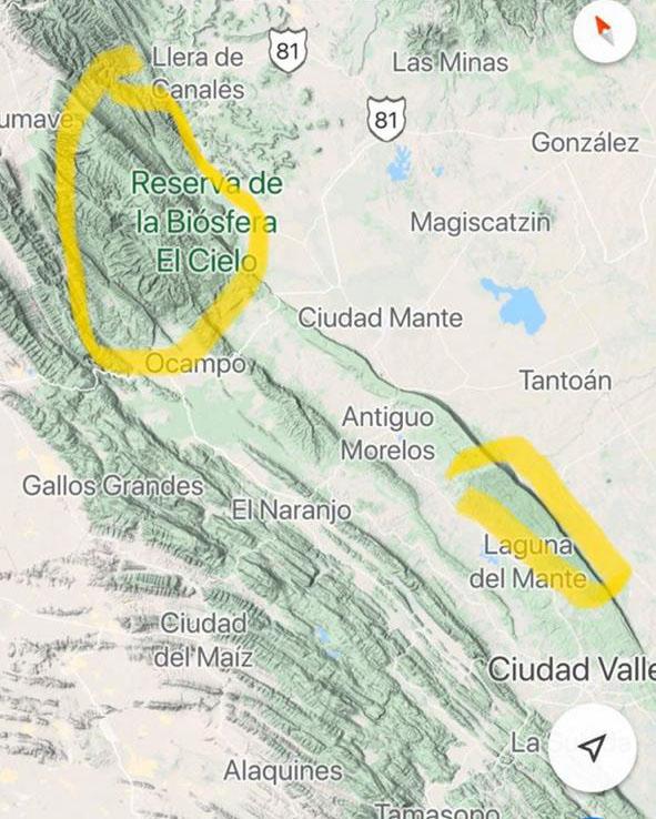 Reserva de la biósfera-El Cielo-Tamaulipas-