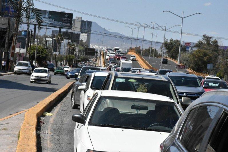 Caos vial en San Luis