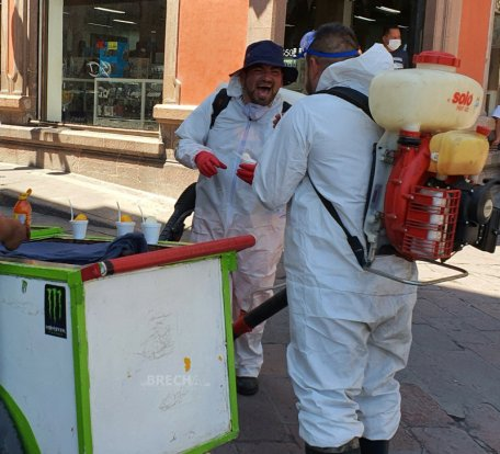 Protección Civil desinfectado