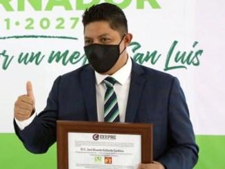 validar triunfo de José Ricardo Gallardo Cardona