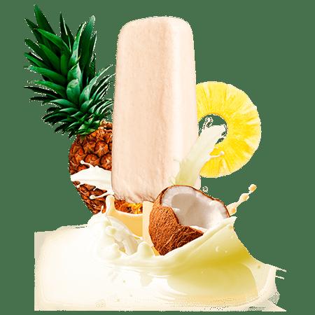 Piña colada cream bar