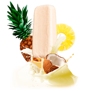 Piña colada cream bar