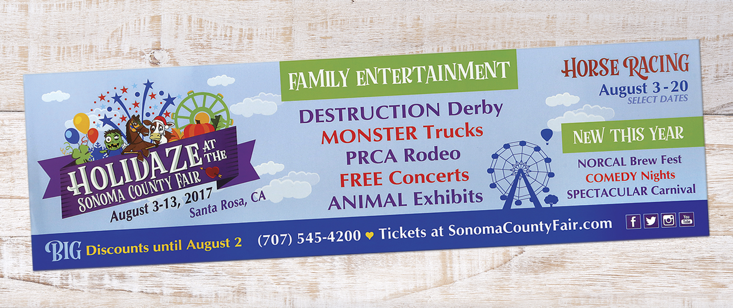 2017 Sonoma County Fair Door Strip
