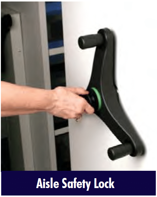 Mobile Shelving Aisle Safety Lock