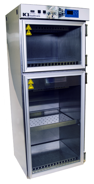 Laboratory Warming Cabinets Framed Glass Door Two Door