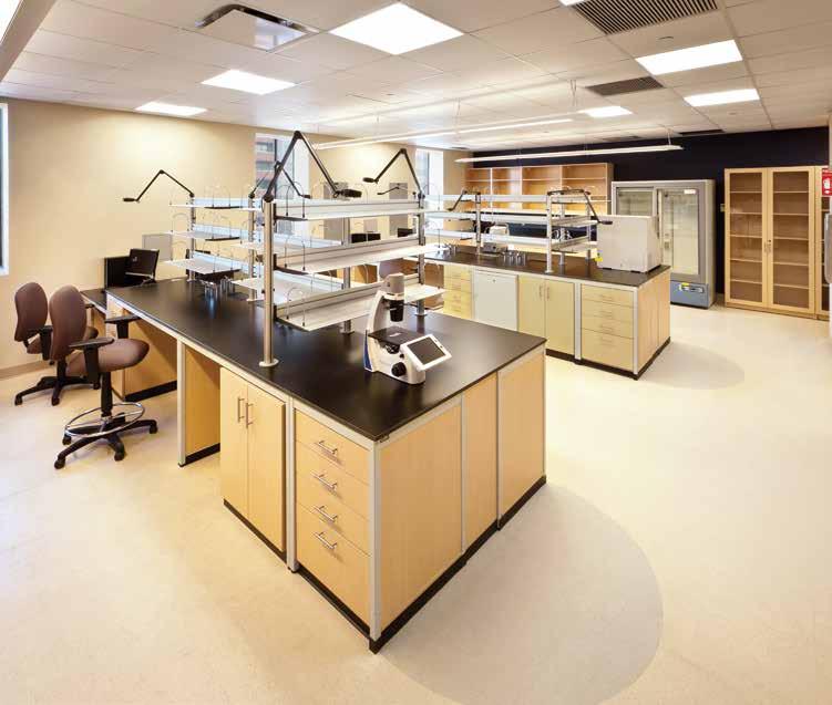 modular lab wood workspace