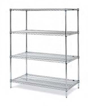 Stationary Lab Wire Shelving