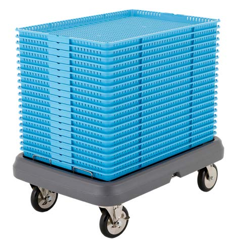 marijuana drying trays stacked cart