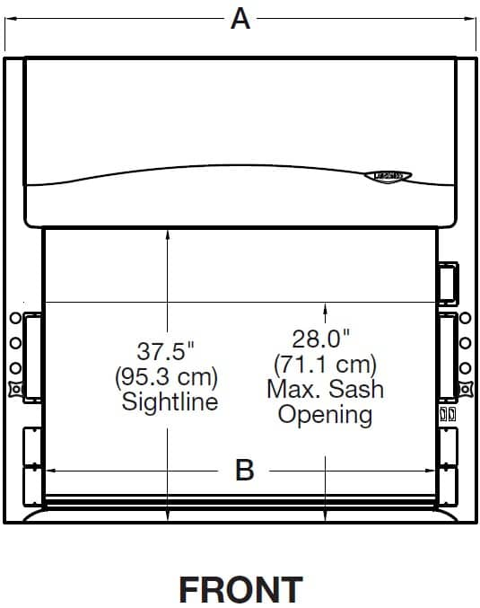 Protector® Chemistry Hood Front Drawing