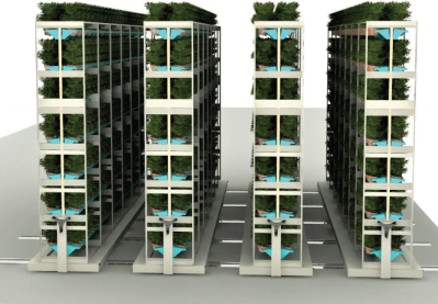 Commercial Grow Accessories: Mobile Storage for vertical Growing illustration