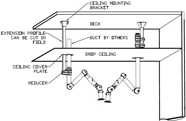 Exhaust Snorkel Drop Ceiling Installation