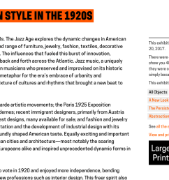 image of a web screenshot depicting large print label link heading reads exhibition title the [ 1762 x 739 Pixel ]