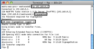Figure 6 - Hard coded credentials used with other FTP client