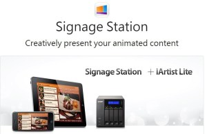 Figure 1 - QNAP Signage Station website.