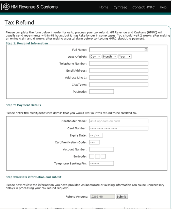spoofed-HMRC-page
