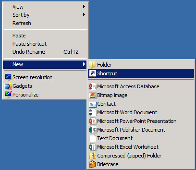 Create LNK file