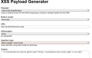 xss payload generator
