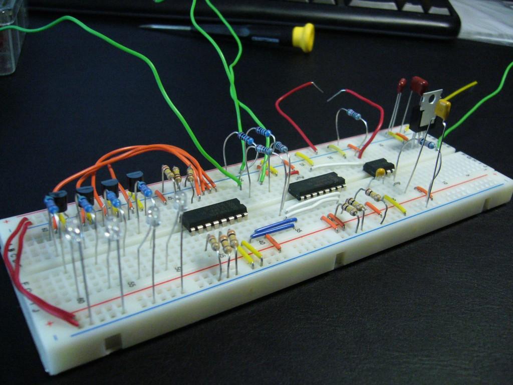 Flipflop Circuit On A Solderless Breadboard