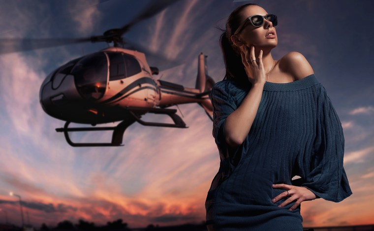 Women And Helycopter