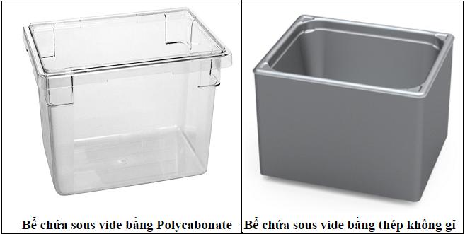 Bể chứa dành cho máy sous vide