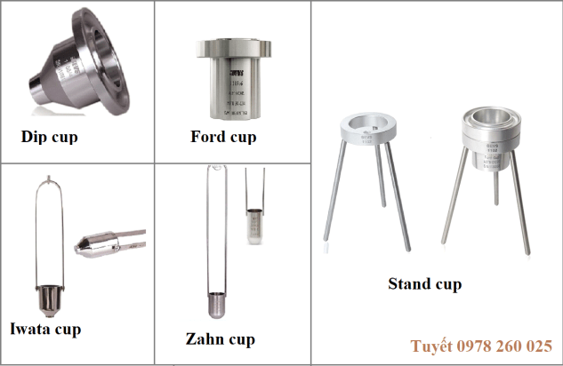 Các loại cốc đo độ nhớt sơn, mực in, chất lỏng
