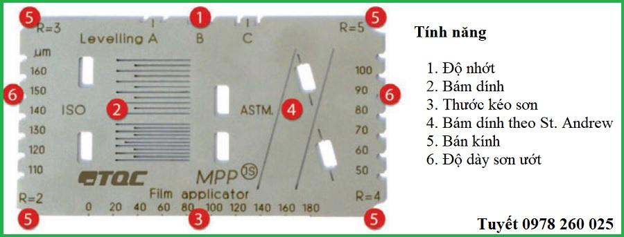 Thiết bị đo: bám dính, độ dày sơn, thước kéo