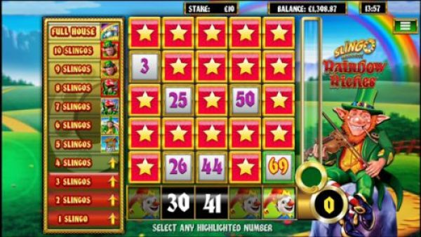 How to play Slingo Rainbow Riches