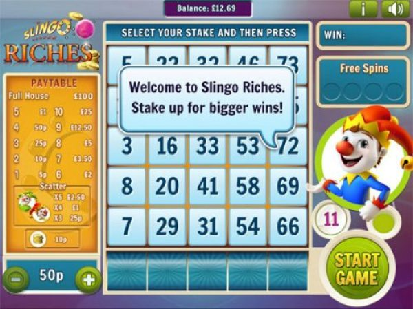 How to play Slingo Riches