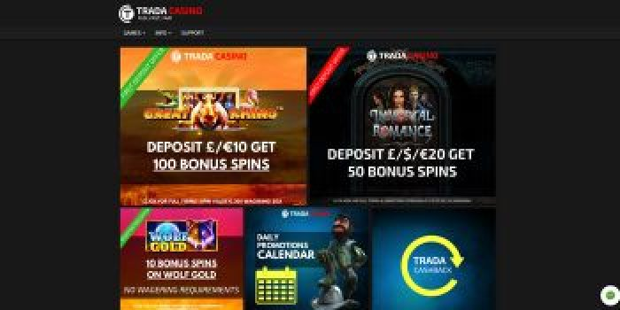 Welcome offers at Trada Casino UK