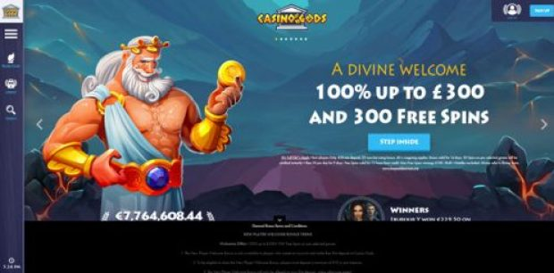 Casino Gods welcome offer
