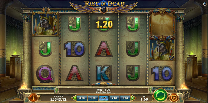 Rise of Dead online slot game win