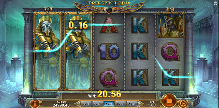 Rise of Dead online slot game screen