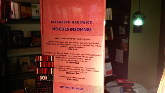 Noches insomnes, de Elizabeth Hardwick, con traducción del inglés de Marta Alcaraz, para  Navona