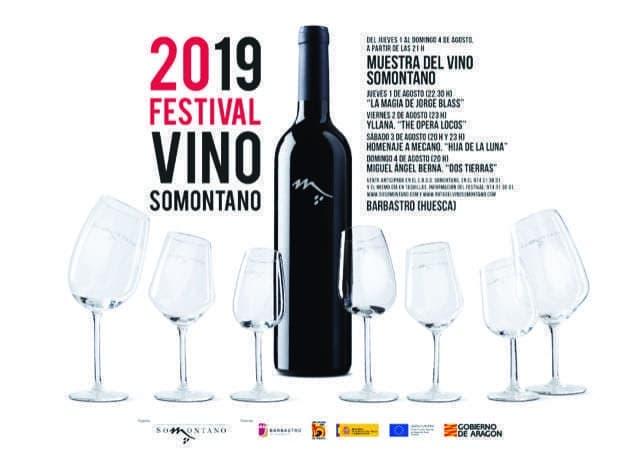 20 festival vino somontano do somontano cartel