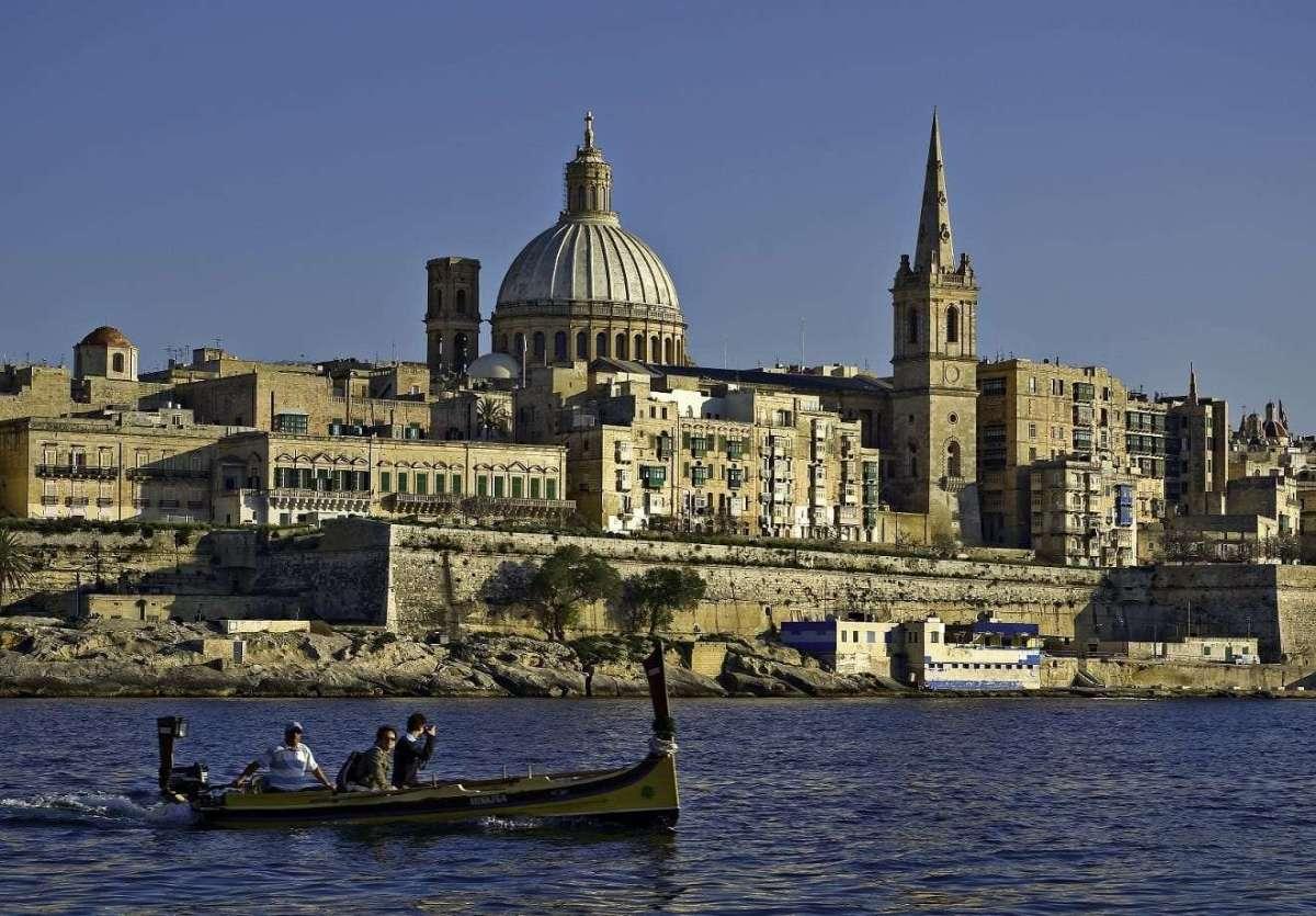 Malta - Valletta from Marsamxett Harbour - by Clive Vella