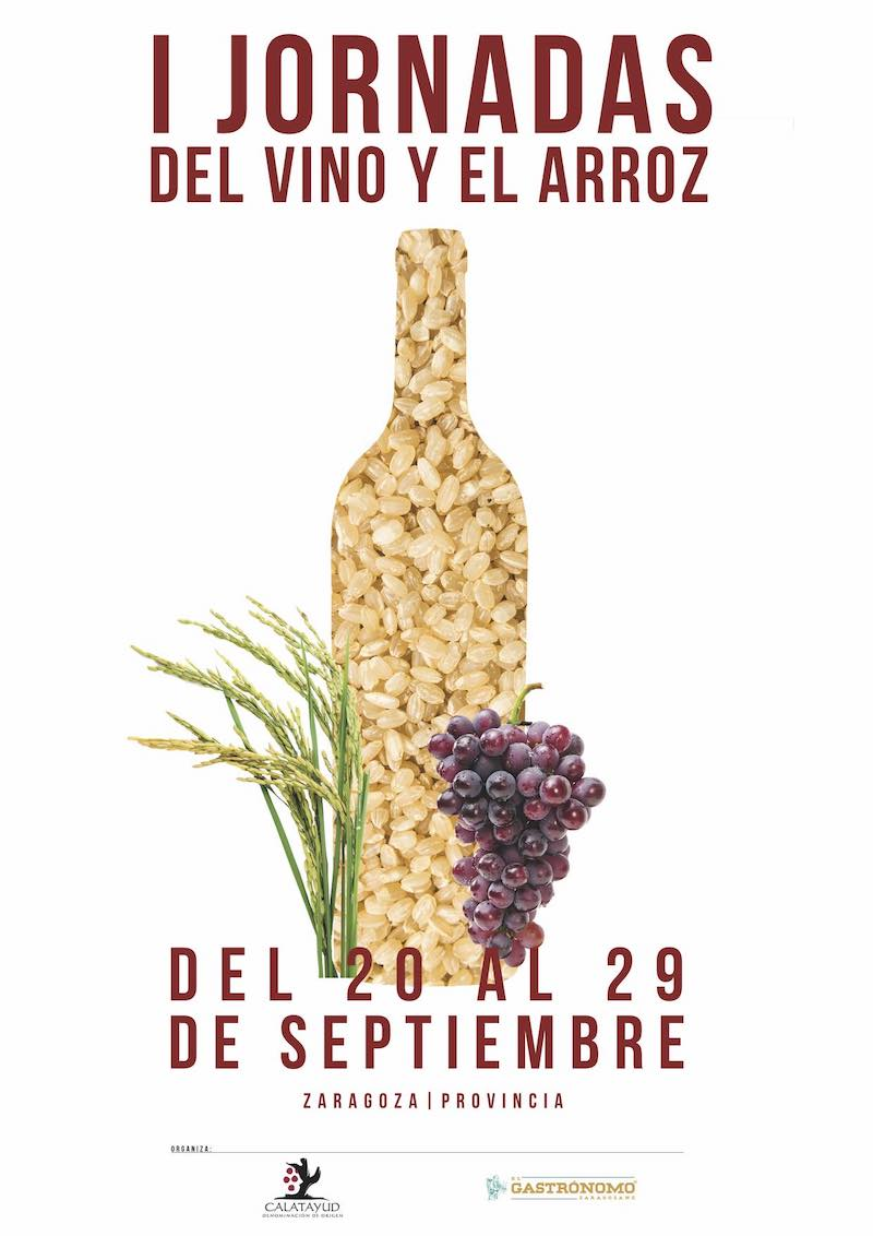 cartel jornadas gastronomicas del vino y del arroz final 1