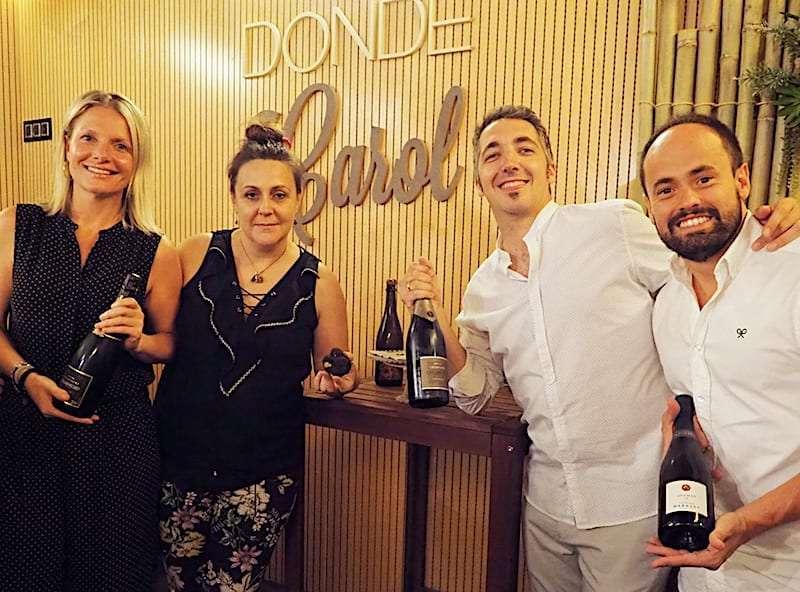 Trufa y champan Donde Carol
