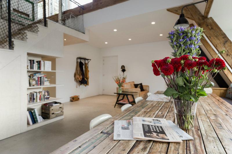 3 - Loft industrial en Amsterdam - salon