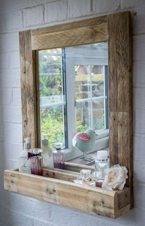 3 - cosas hacer palets - espejo baño