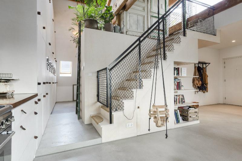 5 - Loft industrial en Amsterdam - escalera
