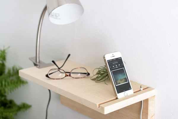 1 - 7 ideas DIY modenas y minimalistas - Mesita de noche