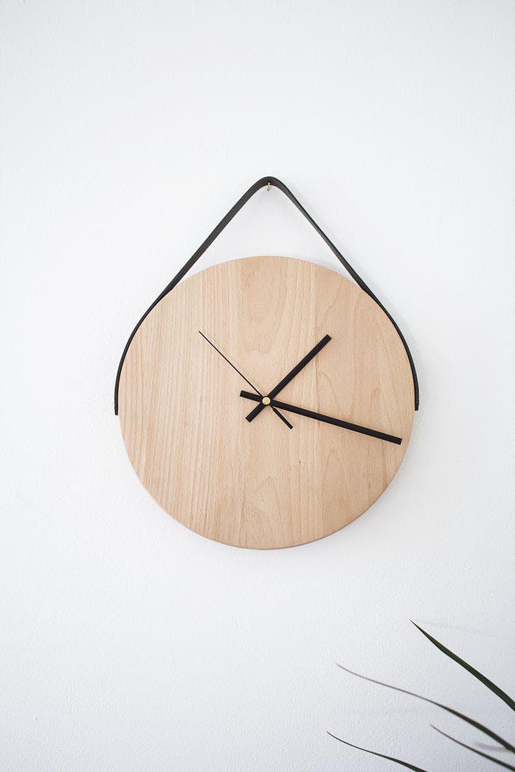 5 - 7 ideas DIY modenas y minimalistas - Reloj circular de madera