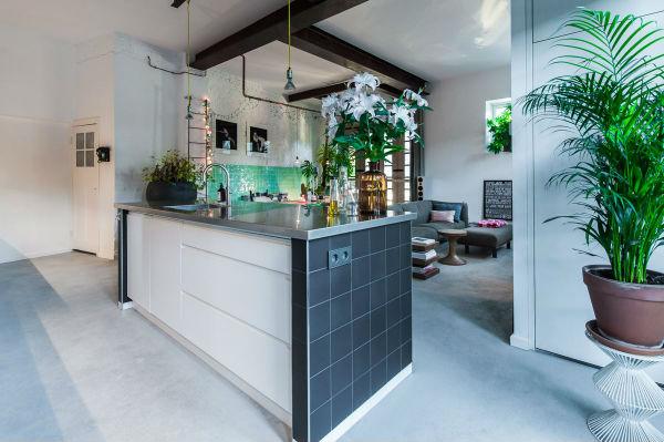 8 - loft industrial color - cocina